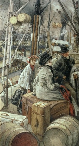 By Water, c.1881-2 Poster Art Print by James Jacques Joseph Tissot