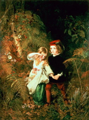 Children in the Wood Fine Art Print by James Sant