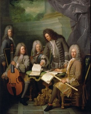 La Barre and Other Musicians, c.1710 Fine Art Print by Robert Tournieres
