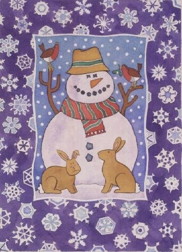 Christmas Snowflakes, 1995 Fine Art Print by Cathy Baxter