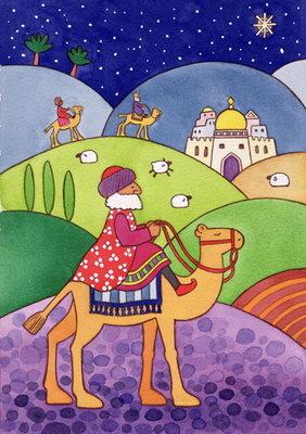 The Three Kings, 1997 Fine Art Print by Cathy Baxter