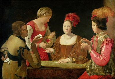 The Cheat with the Ace of Clubs Fine Art Print by Georges de la Tour