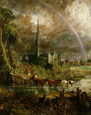 Salisbury Cathedral From the Meadows, 1831 Wall Art & Canvas Prints by John Constable