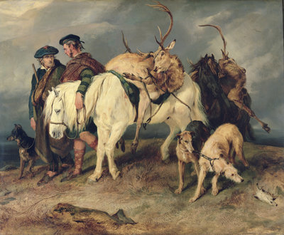 The Deerstalkers' Return, 1827 Fine Art Print by Sir Edwin Landseer