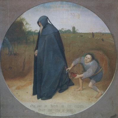 Misanthrope, 1568 Fine Art Print by Pieter the Elder Bruegel