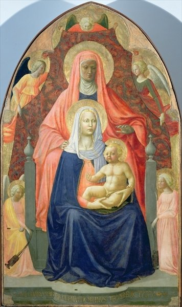 Madonna and Child with St. Anne, 1424-5 Postcards, Greetings Cards, Art Prints, Canvas, Framed Pictures, T-shirts & Wall Art by T. Masaccio