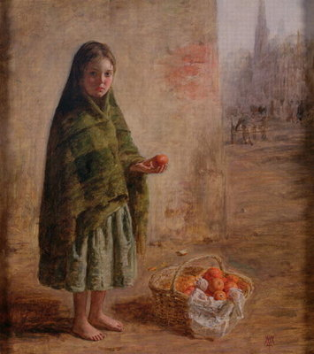 An Orange Seller, c.1865 Poster Art Print by William McTaggart
