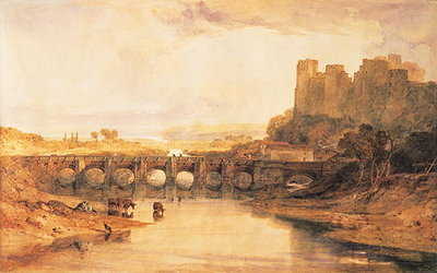 Ludlow Castle, 1800 Postcards, Greetings Cards, Art Prints, Canvas, Framed Pictures, T-shirts & Wall Art by Joseph Mallord William Turner