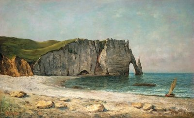The Sea-Arch at Etretat, 1869 Fine Art Print by Gustave Courbet