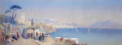 The Bay of Naples, 1861 Wall Art & Canvas Prints by Thomas Charles Leeson Rowbotham