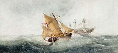 Approaching the Wreck, 1837 Wall Art & Canvas Prints by William Clarkson Stanfield