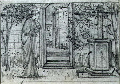 A Study for Danae and the Brazen Tower, 1869-70 Fine Art Print by Sir Edward Burne-Jones