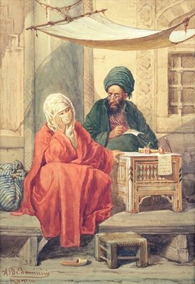 The Ottoman Scribe Fine Art Print by Antonio de Dominici
