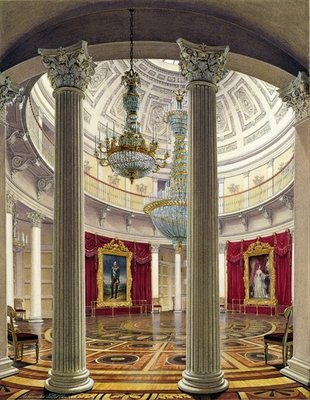 The Rotunda, Winter Palace, 1862 Fine Art Print by Eduard Hau