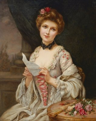 The Love Letter Fine Art Print by Francois Martin-Kavel