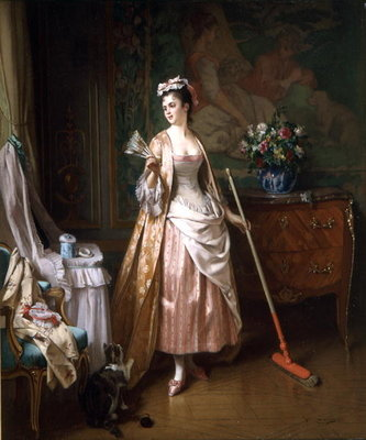 The Lady's Maid Fine Art Print by Joseph Caraud