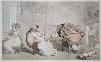 A Stolen Kiss Fine Art Print by Thomas Rowlandson