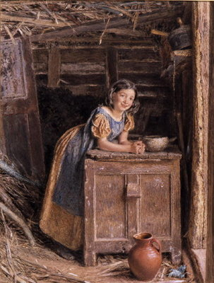 A Rustic Beauty, 1837 Wall Art & Canvas Prints by William Henry Hunt