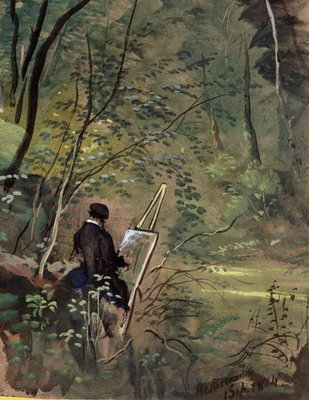 Hestercombe Woods, Somerset 1834 Wall Art & Canvas Prints by The Rev. John Eagles