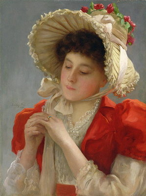 The Engagement Ring, 1898 Fine Art Print by John Shirley Fox