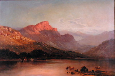 Evening in the Trossachs Fine Art Print by Alfred de Breanski