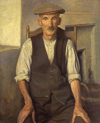 The Old Gardener Fine Art Print by Sir William Rothenstein