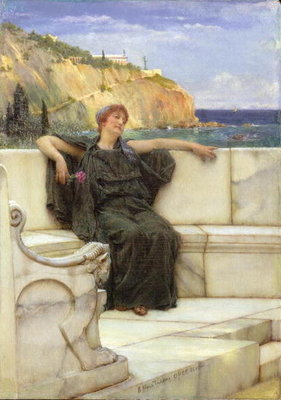 Daydreaming Wall Art & Canvas Prints by Sir Lawrence Alma-Tadema