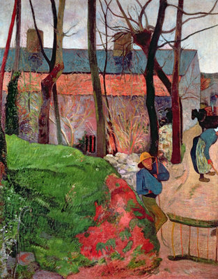 Cottage at Le Pouldu, 1890 Fine Art Print by Paul Gauguin