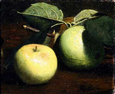 Two apples Fine Art Print by Ignace Henri Jean Fantin-Latour