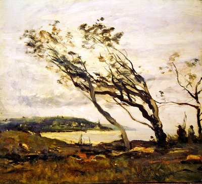 Stormy day on the Channel Fine Art Print by Jean Baptiste Camille Corot