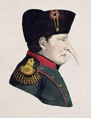 Untitled Cartoon of Napoleon's Right Profile Fine Art Print by Anonymous