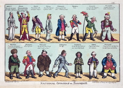 National Opinions on Bonaparte, 1808 Wall Art & Canvas Prints by George Moutard Woodward