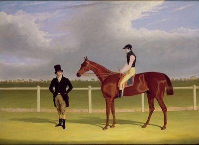 The Hon. E. Petre's 'Rowton', winner of the St. Leger with Bill Scott up, 1829 Fine Art Print by John Frederick Herring Snr