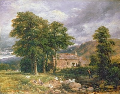 The Old Mill at Bettws-y-Coed Fine Art Print by David Cox