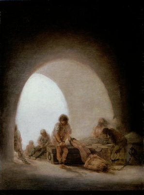 Interior of the Jail, 1793-94 Fine Art Print by Francisco Jose de Goya y Lucientes