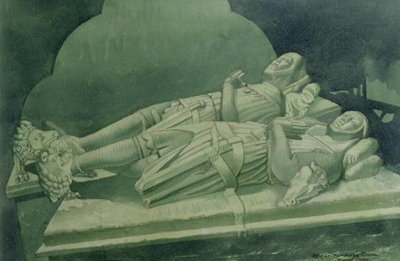 Effigies, Winchelsea Church Fine Art Print by Osmund Caine