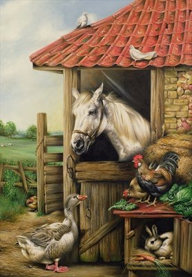 Farmyard Friends Fine Art Print by Carl Donner