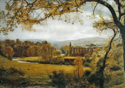 Bolton Abbey, Wharfedale Poster Art Print by John William North