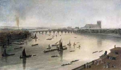 Westminster Bridge from Somerset House Fine Art Print by William Daniell
