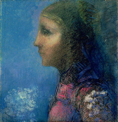 Profile Fine Art Print by Odilon Redon