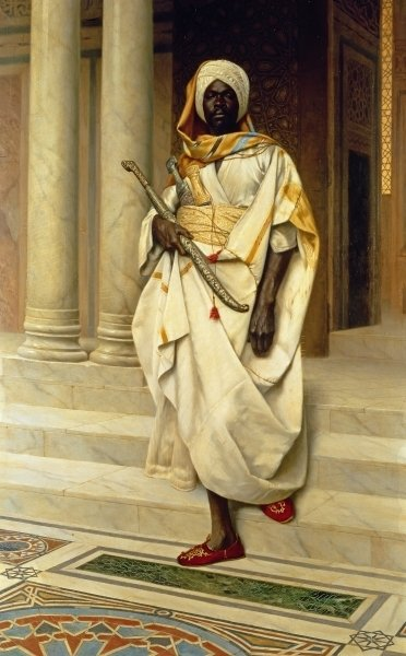 The Emir Fine Art Print by Ludwig Deutsch