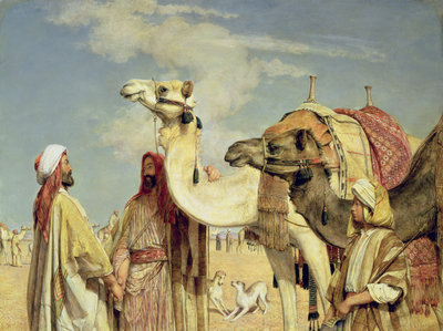 Greetings in the Desert, Egypt Fine Art Print by John Frederick Lewis
