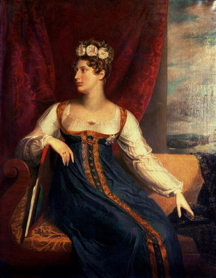 Portrait of Princess Charlotte Augusta of Wales Fine Art Print by George Dawe