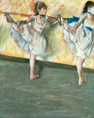Dancers at the bar, c.1877-79 Wall Art & Canvas Prints by Edgar Degas