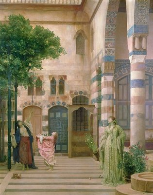 Old Damascus, Jewish Quarter or Gathering Lemons, c.1873-74 Fine Art Print by Frederic Leighton