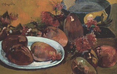 Still Life with Mangos Fine Art Print by Paul Gauguin