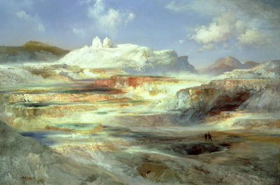 Jupiter Terrace, Yellowstone, 1893 Poster Art Print by Thomas Moran