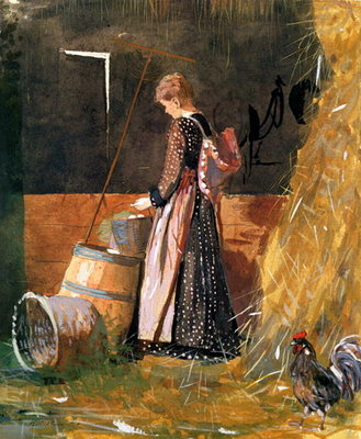 Fresh Eggs, 1874 Poster Art Print by Winslow Homer
