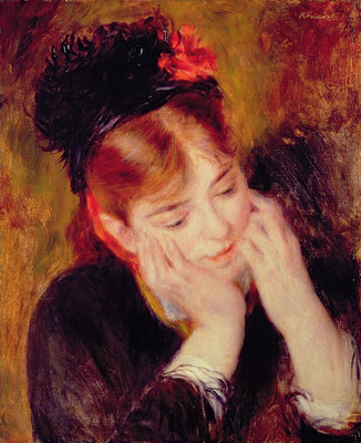 Reflection Poster Art Print by Pierre-Auguste Renoir