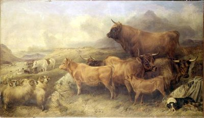 A Highland Cattle Fair, Isle of Skye Fine Art Print by Richard Ansdell